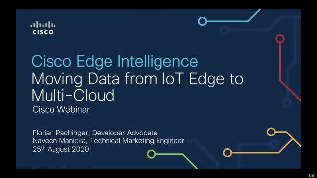Cisco Edge Intelligence: Moving Data from IoT Edge to Multi-Cloud