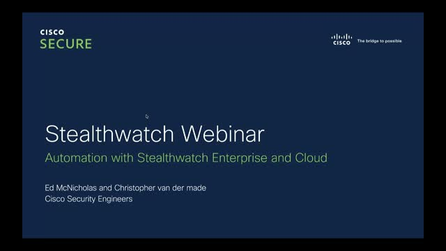 Security Automation & Orchestration Series: Stealthwatch Enterprise + Cloud