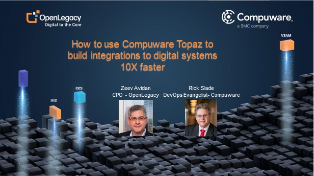 How to use Compuware Topaz to build integrations to digital systems 10X faster
