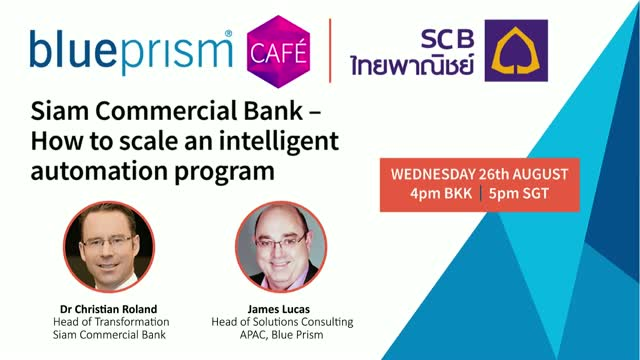 Siam Commercial Bank | How to Scale an Intelligent Automation Program