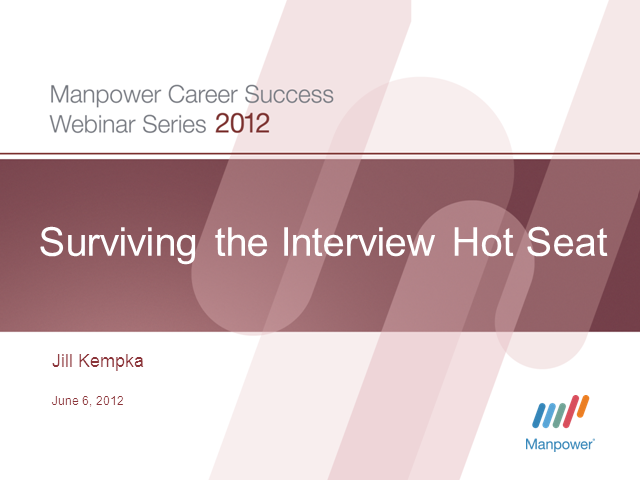 Surviving the Interview Hot Seat