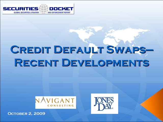 Credit Default Swaps--Recent Developments