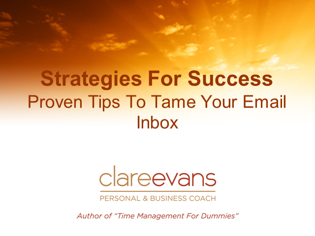 Proven Tips to Tame Your Email Inbox