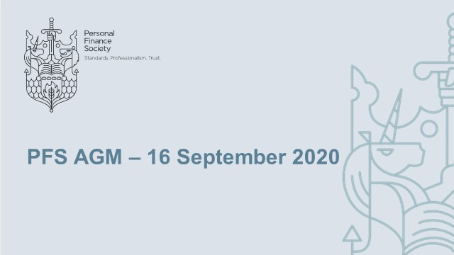 Personal Finance Society Annual General Meeting 2020