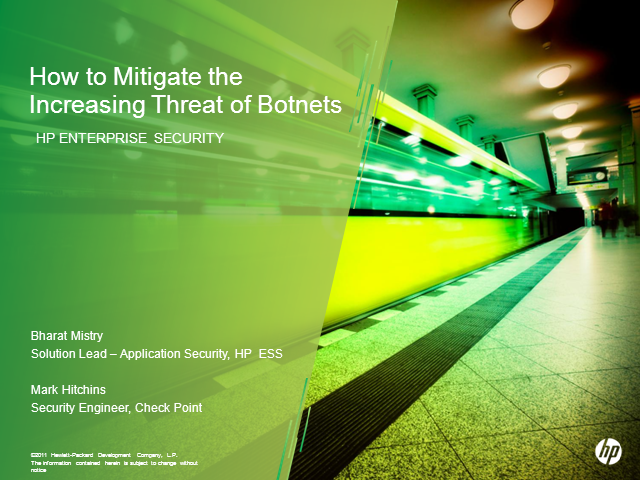 How to Mitigate the Increasing Threat of Botnets