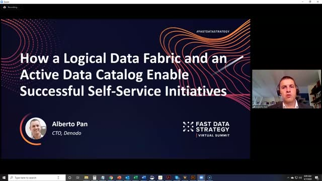 How a Logical Data Fabric & Active Data Catalog Enable Self-Service Initiatives