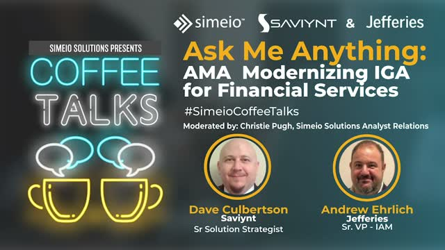 Ask Me Anything: Modernizing IGA for Financial Services