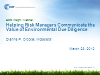Helping Risk Managers Communicate the Value of Environmental Due Diligence