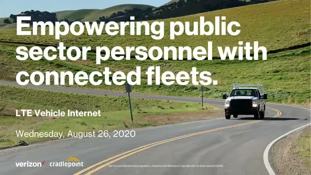 Empowering public sector personnel with connected fleets