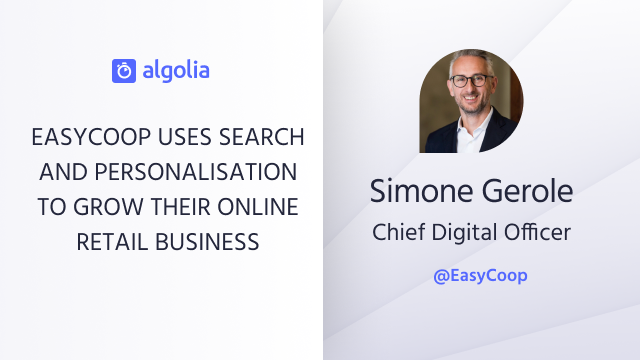 EasyCoop uses search and personalisation to grow their online retail business