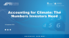Accounting for Climate: The Numbers Investors Need