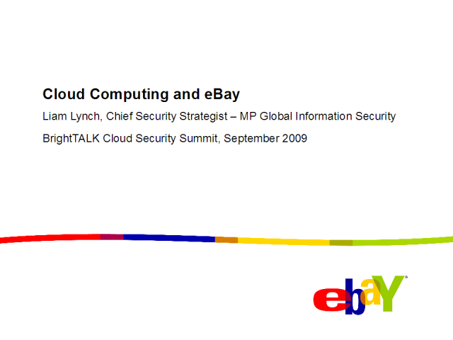 Cloud Security: Identity and Access Management at eBay