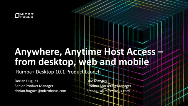 Anywhere, Anytime Host Access – from desktop, web and mobile