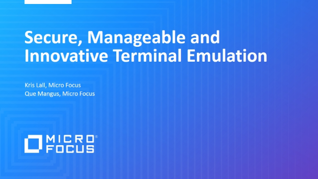 Secure, Manageable and Innovative Terminal Emulation