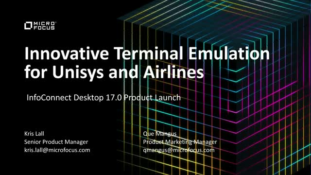 Innovative Terminal Emulation for Unisys and Airlines
