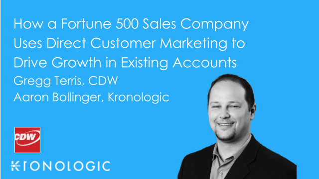How a Fortune 500 Sales Company Uses Direct Customer Marketing to Drive Growth