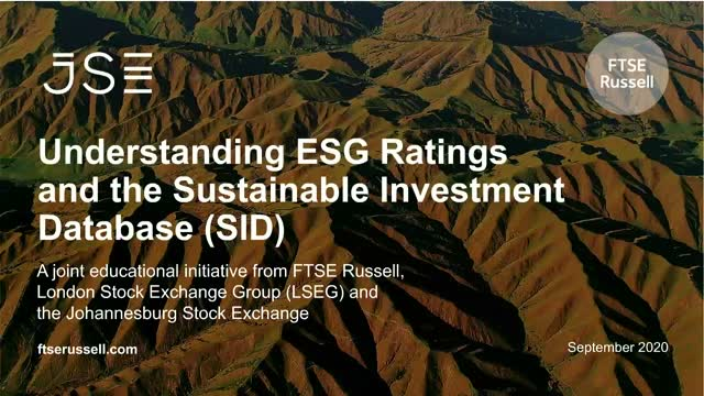 Understanding ESG Ratings and the Sustainable Investment Database (SID)