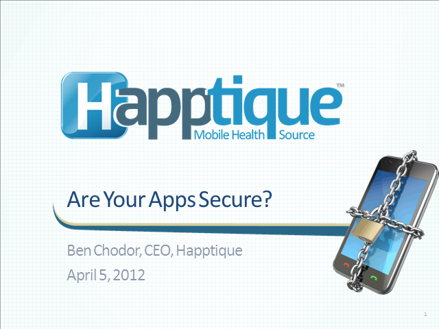 Are Your Apps Secure?