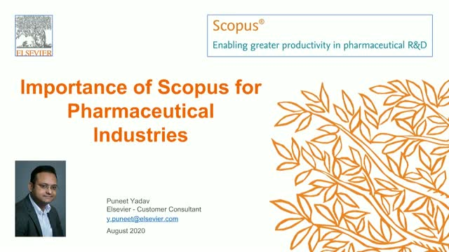 Importance of Scopus for Pharmaceutical Industries