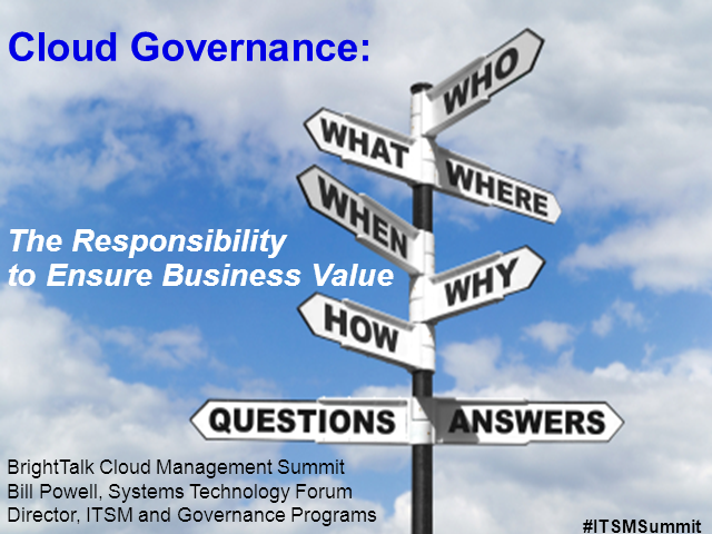 Cloud Governance: The Responsibility to Ensure Business Value