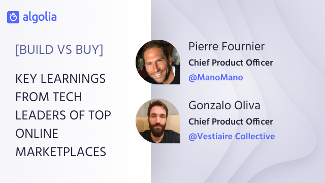 [Build vs Buy] Key learnings from tech leaders of top online marketplaces