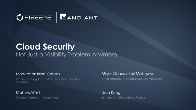 Cloud Security: Not Just a Visibility Problem Anymore