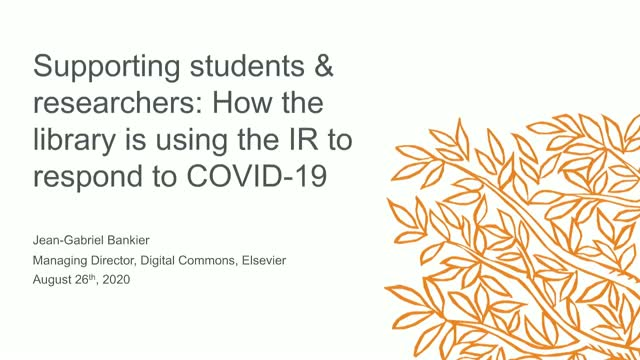 Supporting students & researchers: Using the IR to respond to COVID-19