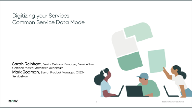 Digitizing your Services: Common Service Data Model