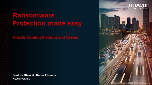 Ransomware Protection made easy – Hitachi Content Platform and Veeam