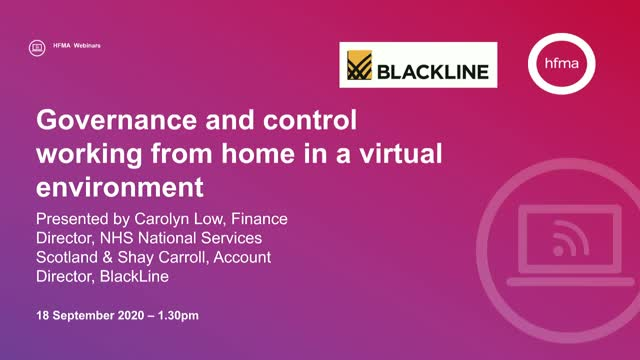 Governance and control working from home in a virtual environment