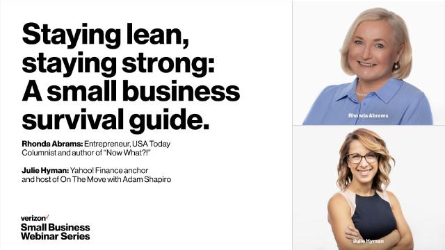 Staying lean, staying strong: A small business survival guide.