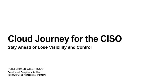 CISO Journey to Cloud