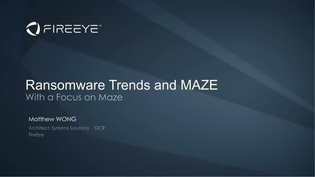 Ransomware Trend With A Focus On Maze