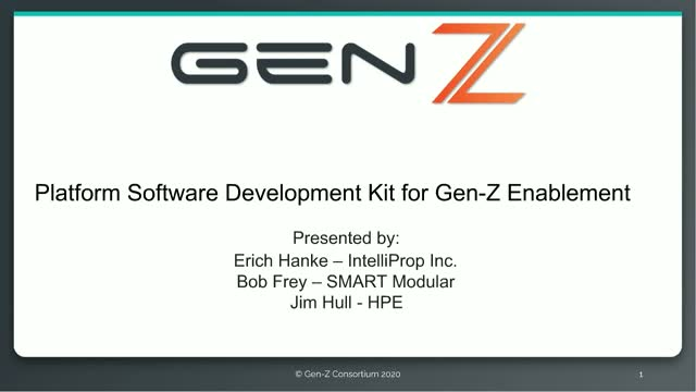 Platform Software Development Kit for Gen-Z Enablement
