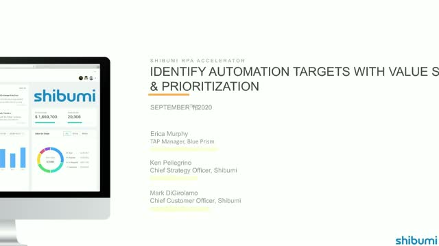 RPA Accelerator: Identify Automation Targets with Value Scoring & Prioritization