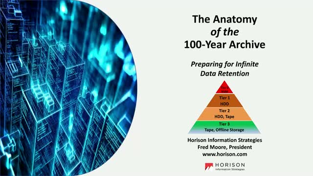 The Anatomy of a 100-Year Archive for Unstructured Data