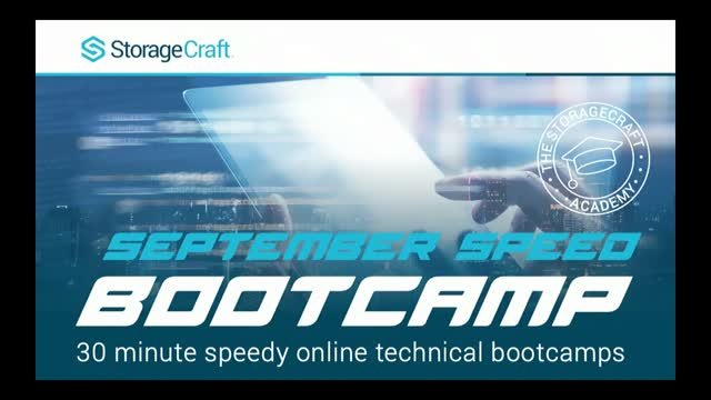 StorageCraft's September Speed Bootcamp - OneXafe Solo