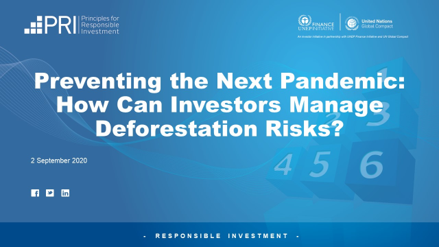 Preventing the Next Pandemic: How Can Investors Manage Deforestation Risks?