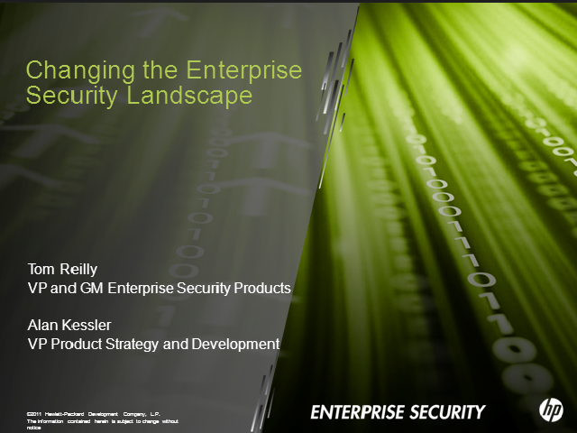Changing the Enterprise Security Landscape