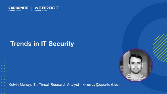 Trends in IT Security