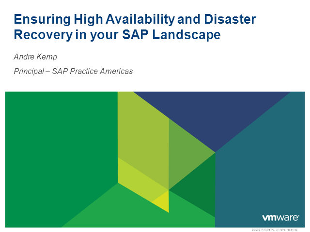 Ensuring High Availability and Disaster Recovery in Your SAP Landscape