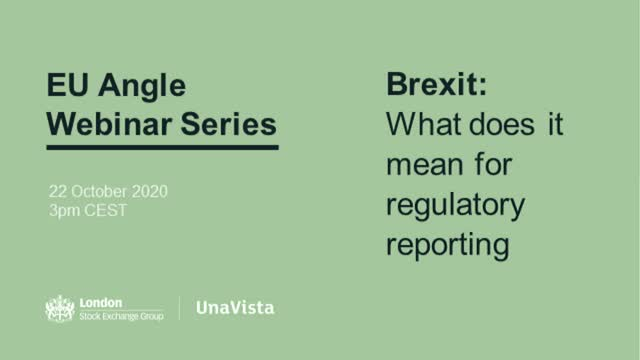 EU Angle – Brexit: What does it mean for regulatory reporting