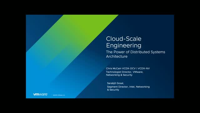 VMUG: Cloud-Scale Engineering and the Power of Distributed Systems