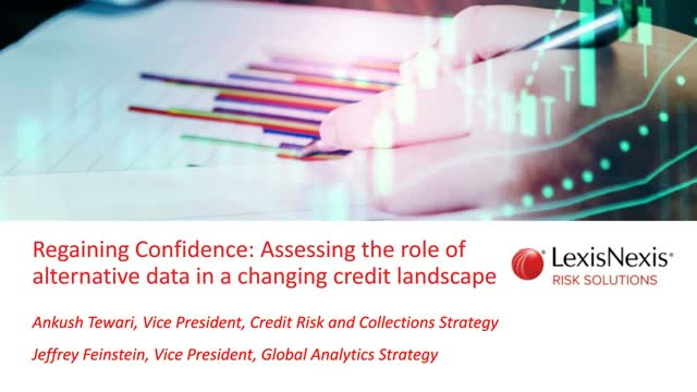 Assessing the role of alternative data in a changing credit landscape