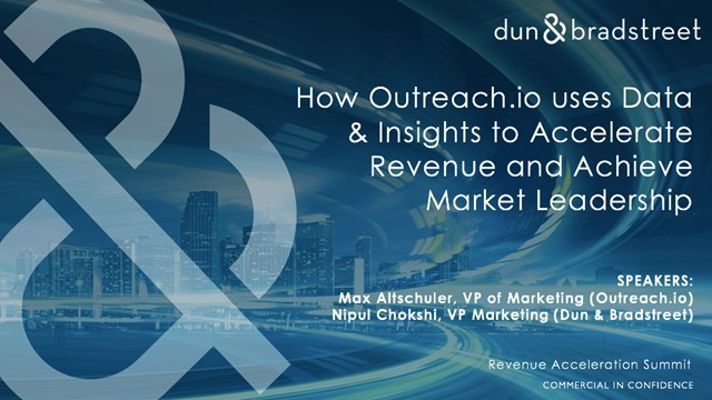 How Outreach.io uses Data to Accelerate Revenue and Achieve Market Leadership