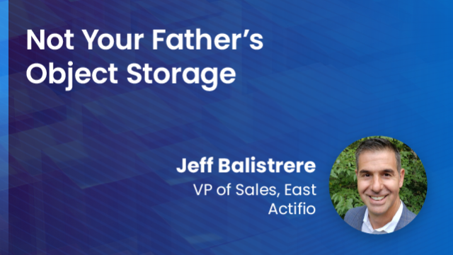 Not Your Father's Object Storage