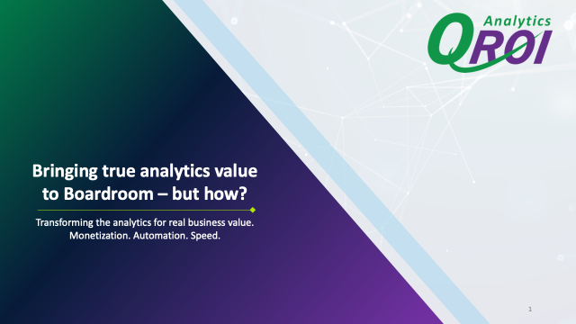 Bringing true analytics value to Boardroom – but how?