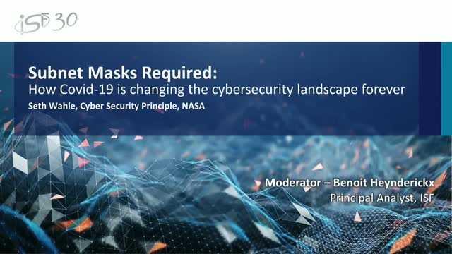Subnet Masks Required: How Covid-19 is changing the cyber security landscape