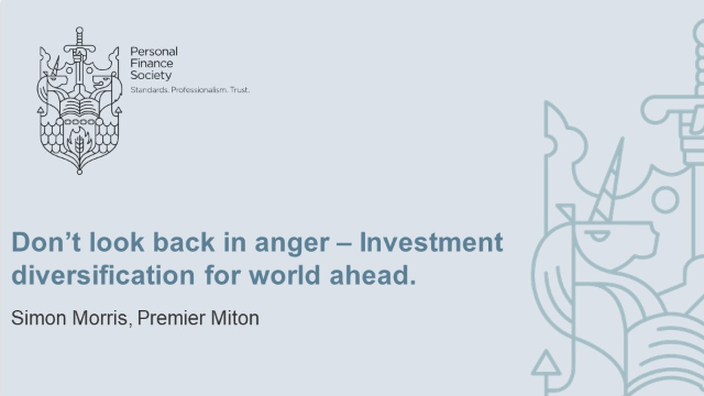 Don't look back in anger – Investment diversification for world ahead.
