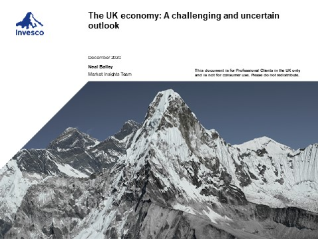 The UK economy: A challenging and uncertain outlook